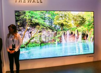 "Un televisor ""The Wall"" de Samsung"