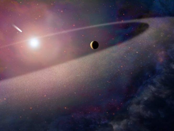 El polvo del cometa interestelar contiene pistas sobre el sistema solar