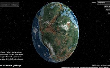 La tierra del pasado vista desde un simulador