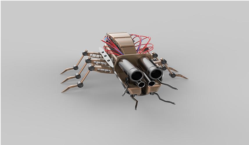 Cucarachas contribuyen a la robotica