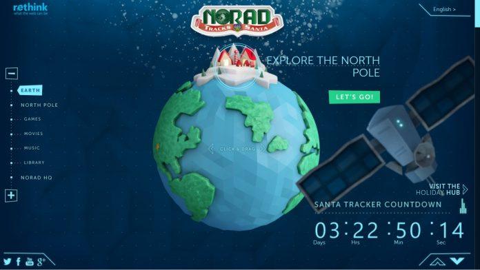 Norad sigue la trayectoria de Papa Noel en tiempo real