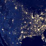 Las luces de Navidad desde el espacio