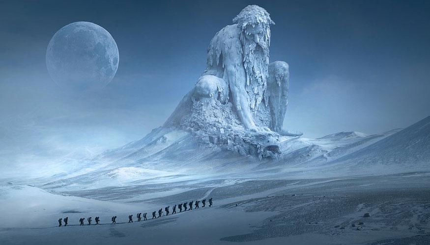 La capa de hielo en groenlandia