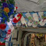 Celebran la Navidad desde el espacio
