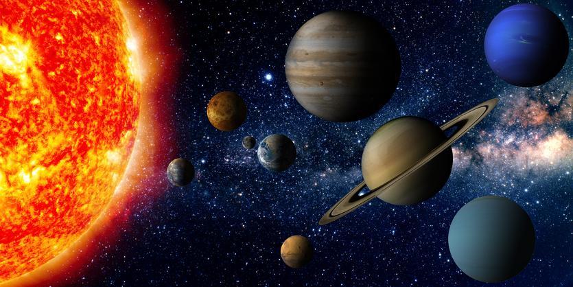 diferencia de tamaño entre las estrellas y los planetas